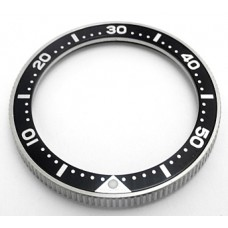 Stainless steel bezel with SEIKO insert